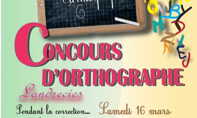 Concours d'orthographe le 16 mars