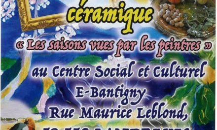 Exposition Peinture et Céramique par le Centre Social et Culturel (16 au 28 novembre)