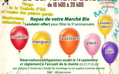 5e anniversaire du Marché Bio : 20 septembre