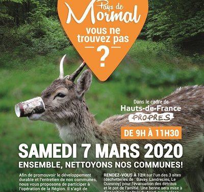 Opération Hauts – de – France Propres dans notre commune le 7 mars