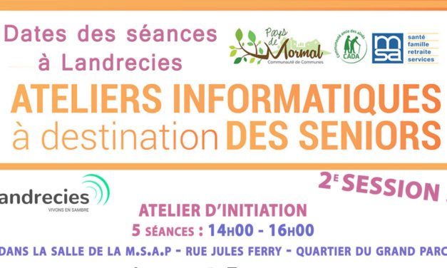 Ateliers informatiques gratuits à destination des Séniors – 2e session (C.A.D.A)