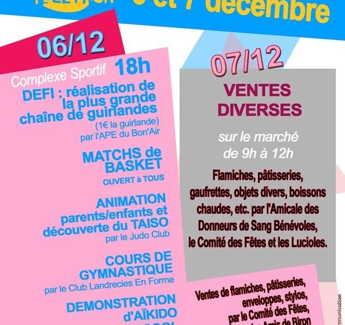 Actions au profit du Téléthon 6 et 7 décembre