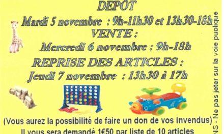 Bourse aux jouets du 5 au 7 novembre