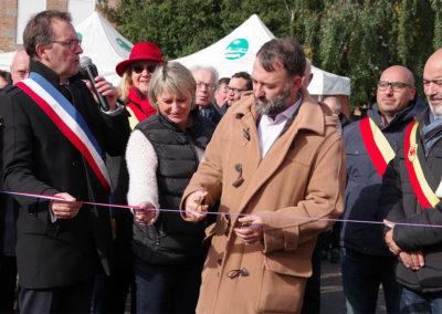 Inauguration de la Foire St-Luc par M. Marliot, Proviseur de la Cité scolaire Dupleix
