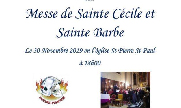 Concert Ste – Cécile 30 novembre par l'Harmonie municipale