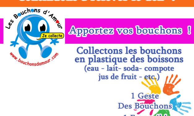 Recyclage : la Collecte de bouchons alimentaires en plastique continue !