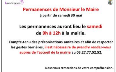 Permanences de Monsieur le Maire